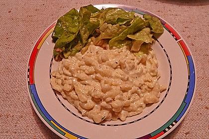 Spaghetti mit Knoblauch-Käsesauce 35
