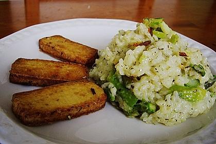 Risotto mit grünem Spargel und Parmesan 30
