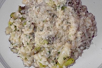 Risotto mit grünem Spargel und Parmesan 66