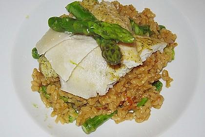 Risotto mit grünem Spargel und Parmesan 35