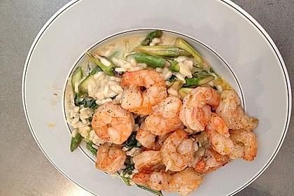 Risotto mit grünem Spargel und Parmesan 58