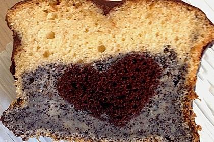 Marmorkuchen mit Nougatcreme 25