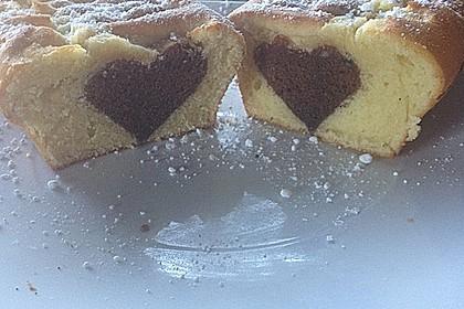 Marmorkuchen mit Nougatcreme 9