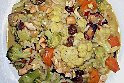 Curry - Gemüse mit Tofu (Bild)