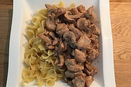Putengeschnetzeltes mit Balsamico Sahnesoße 12