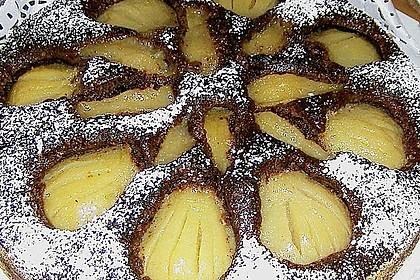 Haferflockenkuchen mit Birnen (Bild)