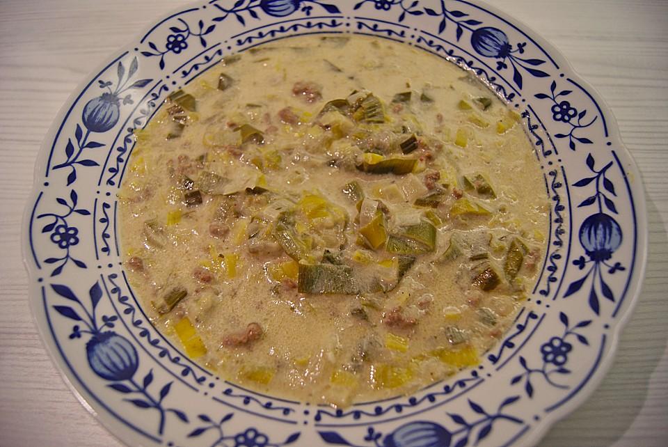 käse lauch suppe einfrieren