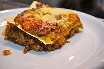 Linsen - Kürbis - Lasagne (Bild)