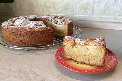 Apfelkuchen mit Calvados und Rum - Rosinen (Bild)