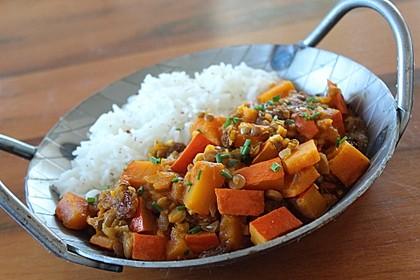 Kürbis - Linsen - Curry