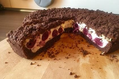 Michas Schoko-Streuselkuchen mit Quark-Kirschfüllung