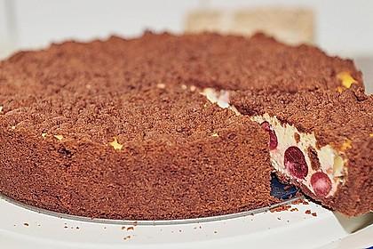 Michas Schoko-Streuselkuchen mit Quark-Kirschfüllung 9
