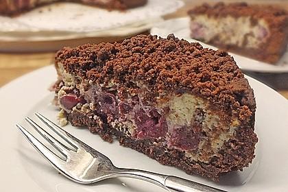 Michas Schoko-Streuselkuchen mit Quark-Kirschfüllung 47