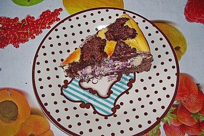 Michas Schoko-Streuselkuchen mit Quark-Kirschfüllung 77
