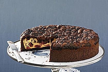 Michas Schoko-Streuselkuchen mit Quark-Kirschfüllung 25