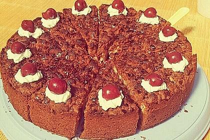 Michas Schoko-Streuselkuchen mit Quark-Kirschfüllung 13