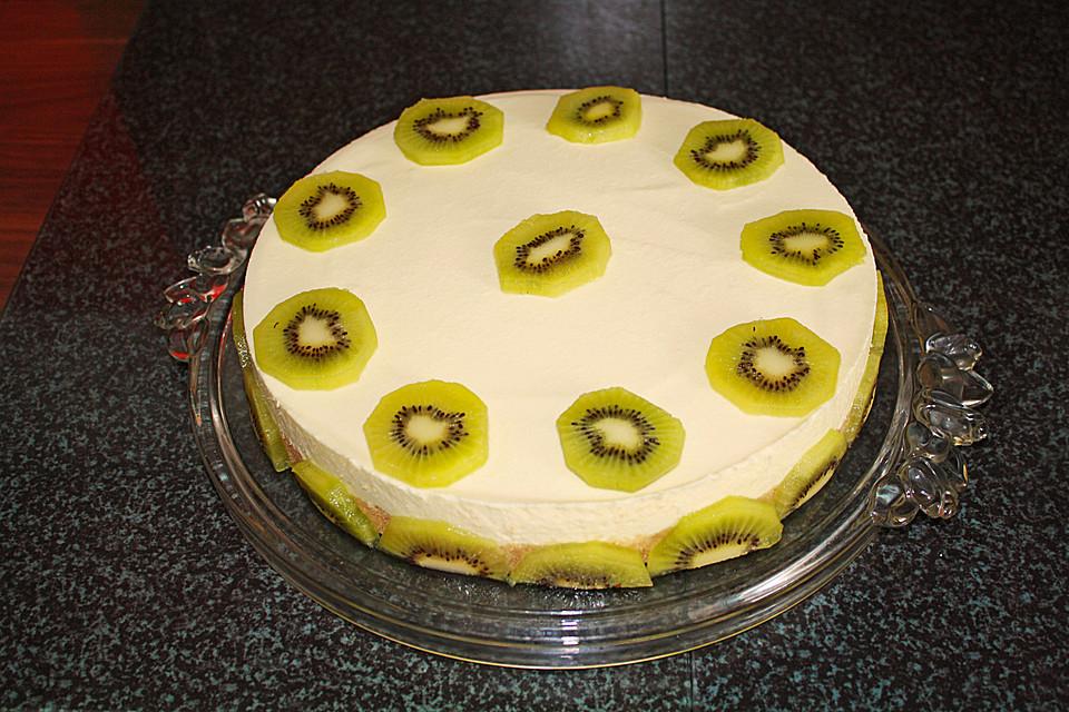 Frischkase Kiwi Torte Von Honigschlumpf Chefkoch De