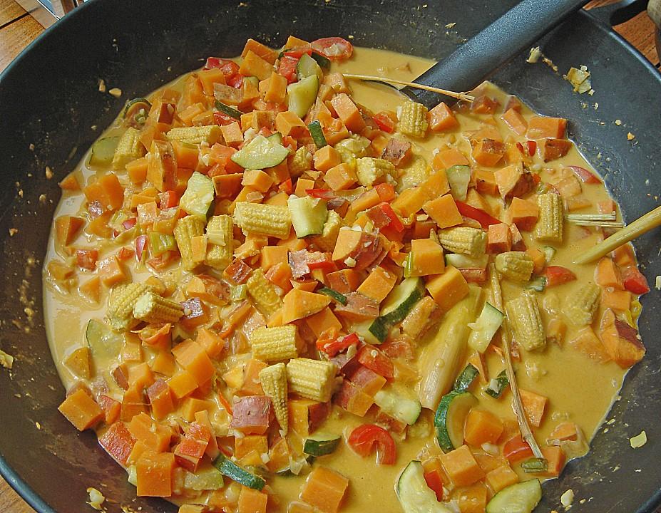 Asiatisches Süßkartoffel Curry Von Katzemurna Chefkochde
