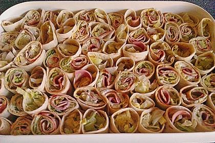 Party Wraps mit Frischkäse und Putenbrust 56