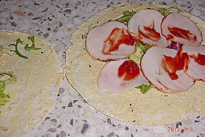 Party Wraps mit Frischkäse und Putenbrust 60