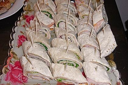 Party Wraps mit Frischkäse und Putenbrust 31