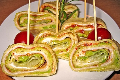 Party Wraps mit Frischkäse und Putenbrust 10