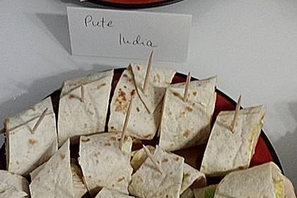 Party Wraps mit Frischkäse und Putenbrust 43