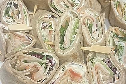 Party Wraps mit Frischkäse und Putenbrust 57