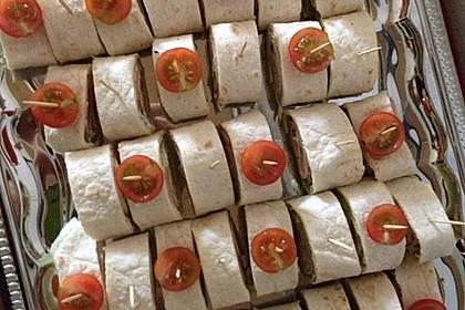 Party Wraps mit Frischkäse und Putenbrust 30