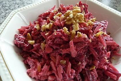 Chrissis Rote Bete - Apfel - Salat mit Meerrettich