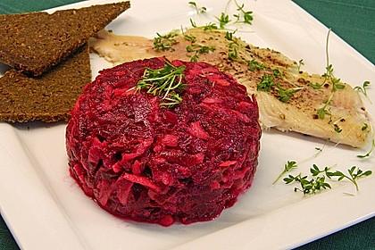 Chrissis Rote Bete - Apfel - Salat mit Meerrettich 4
