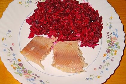 Chrissis Rote Bete - Apfel - Salat mit Meerrettich 13