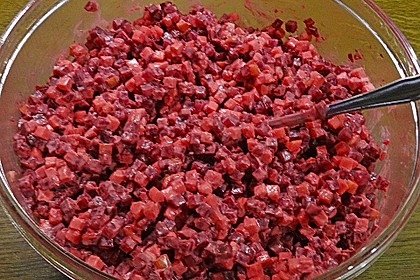 Chrissis Rote Bete - Apfel - Salat mit Meerrettich 20