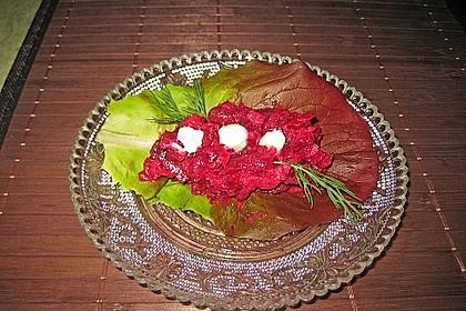 Chrissis Rote Bete - Apfel - Salat mit Meerrettich 14