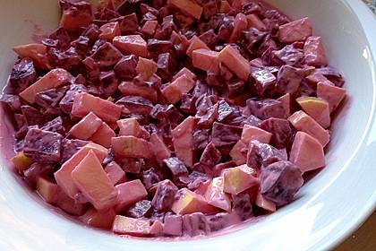 Chrissis Rote Bete - Apfel - Salat mit Meerrettich 9