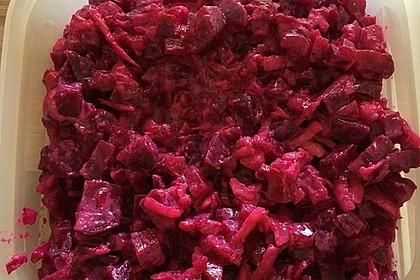 Chrissis Rote Bete - Apfel - Salat mit Meerrettich 15