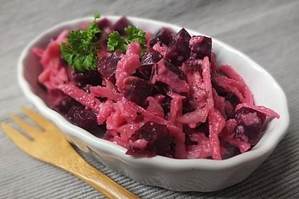 Chrissis Rote Bete - Apfel - Salat mit Meerrettich 2