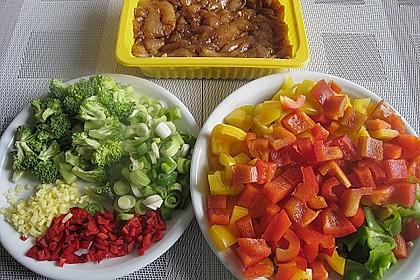 Hähnchenbrustgeschnetzeltes mit Paprika und Brokkoli aus dem Wok 14
