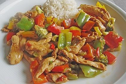 Hähnchenbrustgeschnetzeltes mit Paprika und Brokkoli aus dem Wok 3