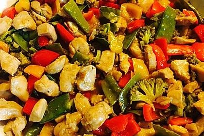 Hähnchenbrustgeschnetzeltes mit Paprika und Brokkoli aus dem Wok 16