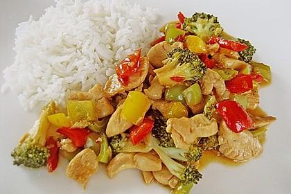 Hähnchenbrustgeschnetzeltes mit Paprika und Brokkoli aus dem Wok 5