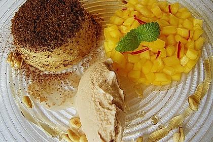 Soufflee von weißer Schokolade, Honeybusch - Eis