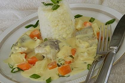 Fisch-Ananas Curry mit Kokosmilch