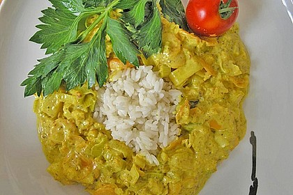 Fisch-Ananas Curry mit Kokosmilch 4