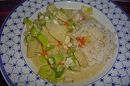 Fisch-Ananas Curry mit Kokosmilch 10
