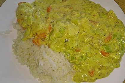 Fisch-Ananas Curry mit Kokosmilch 25