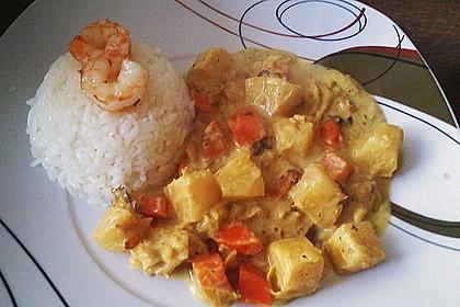 Fisch-Ananas Curry mit Kokosmilch 13