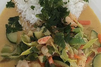 Fisch-Ananas Curry mit Kokosmilch 11