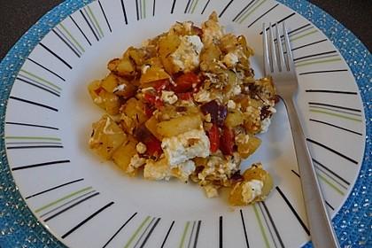 Kartoffelpfanne mit Paprika
