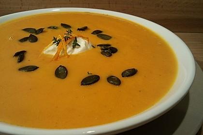 Möhren - Orangen - Ingwer- Suppe (Bild)